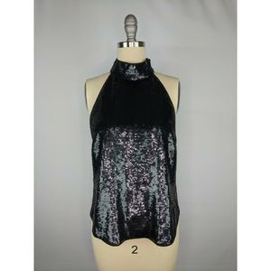 Joie Womens Lei Lei Sequin Halter Top XS NWT $298